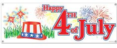 Happy July 4th Banner
