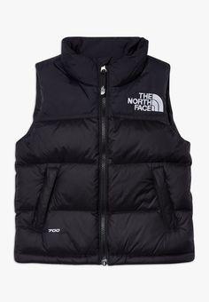 The North Face Kids' 1996 Retro Nuptse Down Vest In Tnf Black/ Windmill Blue North Face 700, North Face Vest, North Face Kids, North Faces, White Vest Outfit, Grey Vest, Vest Outfits, Teenage Outfits, Baby Boy Outfits