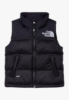 The North Face Kids' 1996 Retro Nuptse Down Vest In Tnf Black/ Windmill Blue North Face 700, North Face Kids, Black North Face Jacket, North Face Vest, Vest Outfits, Outfit Jeans, North Face Outfits, Down Vest, Mode Style
