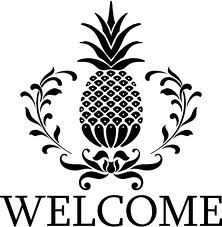 Symbol of Southern Hospitality, when you first arrived as a guest, you would be given a pineapple. I remembered learning this at a tour of a plantation: When a guest would come over to spend a few days, they were greeted with a pineapple. But if they over stayed their welcome, they would find half a pineapple at the foot of their bed, or the pineapple bed-nobs missing. This was an unspoken signal that it was time for them to leave.
