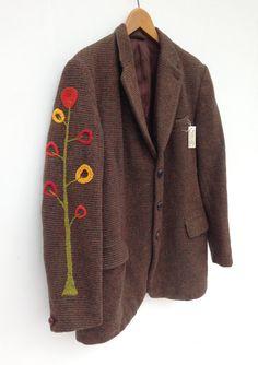 Vintage Harris Tweed Jacket Unisex Small by didyoumakeityourself