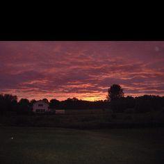 Sunset @ my house