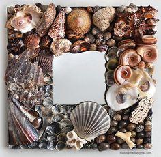 Seashell mirror reflects the rugged Atlantic coast by madebymano