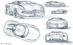 Carrozzeria Touring Disco Volante (2012) design sketches by Benoit Mouret