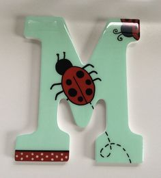 Custom wooden letters, 100% Hand painted. $15.00