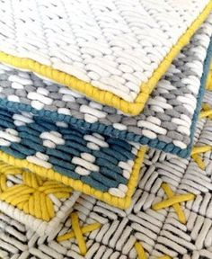 Beautiful Harmony of Colours and Textures at Charlotte Lancelot Poufs
