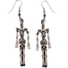 Earrings Metal Skeleton Halloween Express, Morris Costumes, Bodysuit Costume, Goth Look, Halloween Jewelry, Costume Accessories, Anklets, Ear Piercings, Skeleton