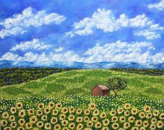 Brightscapes: The Way To Beauty  Sunflowers In Provence France, 2018 To purchase, please visit: https://www.etsy.com/listing/250377324/sunflowers-in-provence-france-original  We take our time leaving Avignon. We sit in a little cafe as we talk about our plans for the day. All the villages we'll see. The quaint farms. All the food. But nothing prepared us for the beautiful fields of sunflowers making their surroundings even brighter. What will we find in Cannes and Nice?