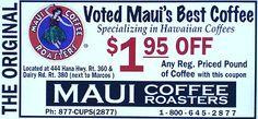 Maui Coffee Roasters, Kahului, Maui, Hawaii - Discount Coupon - Maui Leisure Guide