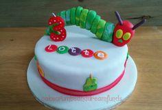 The very hungry caterpillar 3rd birthday cake