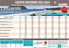 Oferta Enero - Abril a Lanzarote desde 396€ Tax incluidas. Salidas desde Santiago con UX ultimo minuto - http://zocotours.com/oferta-enero-abril-a-lanzarote-desde-396e-tax-incluidas-salidas-desde-santiago-con-ux-ultimo-minuto/