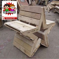 Easy Wood Furniture Projects Ideas - Revealing Clear-Cut DIY Woodworking Plans - My Hobby Pallet Crafts, Diy Pallet Projects, Pallet Ideas, Outdoor Pallet Projects, Cool Wood Projects, Wood Crafts, Wood Bench Plans, Garden Bench Plans, Garden Benches