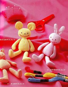 free pattern/tutorial for this bear/bunny