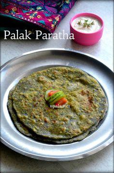 Palak Paratha/Spinach Paratha  http://www.upala.net/2017/04/palak-parathaspinach-paratha.html