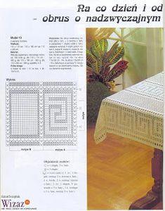 "Photo from album ""Moje robotki on Yandex. Crochet Tablecloth, Crochet Doilies, Crochet Designs, Crochet Patterns, Mantel Redondo, Fillet Crochet, Crochet Diagram, Views Album, Author"