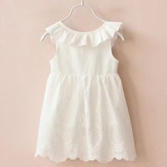 Cheap children dress, Buy Quality brand girl dress directly from China girls brand dress Suppliers: New 2017 Summer baby Dress Princess Costume Brand Silk Chiffon Kids Girls Clothes Girls Dresses Leopard Print Children Dress White Eyelet Dress, Girls White Dress, White Sleeveless Dress, Dresses Kids Girl, Kids Outfits Girls, White Girls, Girl Outfits, Dress Outfits, Pleated Dresses