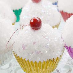 Styrofoam ball cupcake ornaments