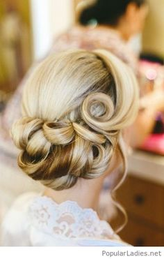 Chic retro wedding updo