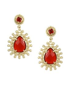 Linden Earrings in Red. #KendraScott @Kendra Scott  #OmniBartonCreek #Bellas