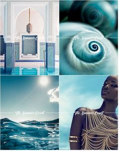 The Summer Court Colours [1] : Turquoise - A High Lord with eyes of crushing, turquoise blue. The master of the sparkling sea. Water so uniquely vibrant – green and cobalt and midnight. Colour Palette of Prythian