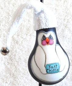 Penguin painted lightbulb