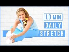 Stretching Routine For Flexibility, Daily Stretches, Stretch Routine, Body Stretches, Stretching Exercises, 14 Day Workouts, Body Detox, Keep Fit, Mind Body Soul