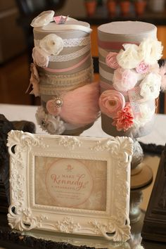 Shabby Chic Headband Kit - Baby Shower