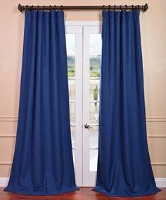 fertiggardinen moderne vorhänge blau