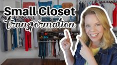 Small Closet Transformation - Virtual Organizing Small Bedroom Organization, Clutter Organization, Organizing Ideas, Eva Youtube, Closet Transformation, Closet System, Online Coaching, Easy Projects, Getting Organized