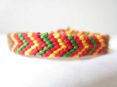 Braided Friendship Bracelet  Christmas Colors by beausbitsandbobs, £4.30