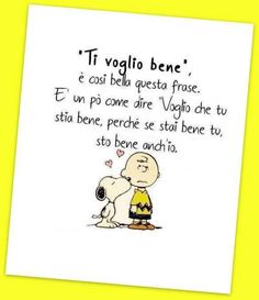 """I love you"", how beautiful this sentence is. It is to say, ""I want you to be well because when you are well, I am well too"". Snoopy Quotes, True Love, Love Of My Life, Advent, Peanuts, Italian Quotes, Vignettes, Friends Forever, Comic Strips"