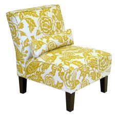 Amazon.com - Skyline Furniture Slipper Armless Chair in Canary Maize - Yellow Accent Chair