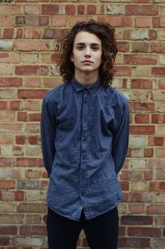 young Enigmatic boy models very