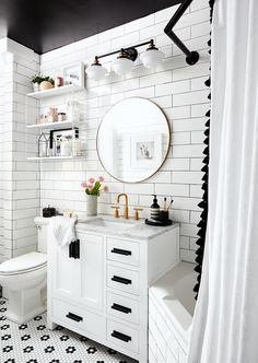 Renovating a bathroom on a small budget? Thoughtful selections and creative use of existing space will help you get the most out of your budget bathroom remodel. Get inspired with these tips for getting maximum style and function with minimum spending. White Bathroom, Modern Bathroom, Small Space Living, Small Spaces, Budget Bathroom, Bathroom Ideas, Bathroom Renos, Bathroom Inspiration, Dream Bathrooms