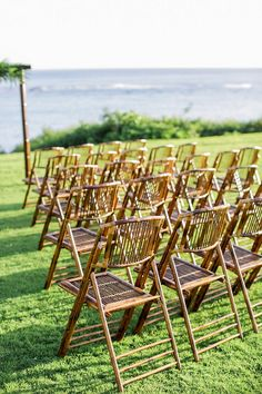 Tropical Wedding Like The Bamboo Chairs And Arch Leaves