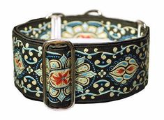 "Forenza Jewels in Black, Khaki, & Red - Martingale or Buckle Dog Collar - 2"" Width"