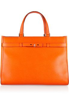 Valextra B-Shopping textured-leather tote | NET-A-PORTER