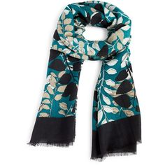 Vera Bradley Soft Wool Scarf in Bohemian Forest ($41) ❤ liked on Polyvore featuring accessories, scarves, imperial branches, vera bradley scarves, patterned scarves, boho scarves, print scarves and woolen scarves