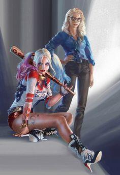 harley quinn, DC, and joker image Joker Y Harley Quinn, Harley Quinn Drawing, Margot Robbie Harley Quinn, Harley Quinn Cosplay, Héros Dc Comics, Comics Girls, Der Joker, Harely Quinn, Catgirl
