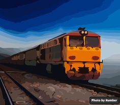 Deisel Rules Train Travel, Painting, Painting Art, Paintings, Painted Canvas, Drawings