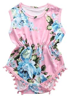 35cd7abb52e SALE 45% OFF + FREE SHIPPING! SHOP Our Tassel Floral Romper for Baby Girls