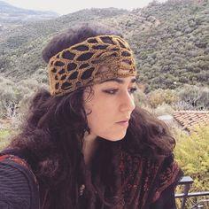 Free form crochet headband by HorizonsEd3e on Etsy
