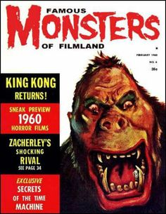 Famous Monsters of Filmland - issue #6 - 1960 - King Kong