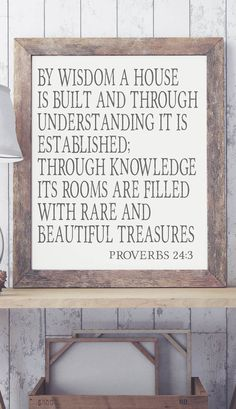 By Wisdom a House is Built Art Print