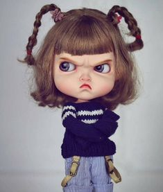 Temper Temper Girl Blythe doll costume revise in 2019 Couples Anime, Angry Girl, Cute Cartoon Girl, Cute Girl Drawing, Cute Baby Dolls, Art Anime, Nina Simone, Cute Cartoon Wallpapers, Doll Costume