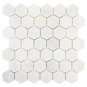 Carrara White Hexagon Marble Mosaic floor and décor $13.99 a square foot floor and decor