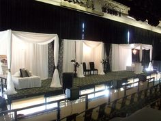 Pipe and drape used to create 10ftx10ft pavilions. Courtesy of our customer Par-Tee Rentals.