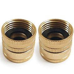 Twinkle Star 2 Pack Brass Garden Hose Connector with Dual Swivel for Male Hose to Male Hose, Double Female Twinkle Star, Twinkle Twinkle, Hot Tub Care Tips, Garden Hose, Lawn And Garden, Cleaning Hot Tub, Paper Binder, Steel File, Hot Tub Backyard
