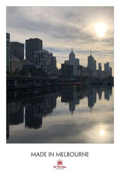 The cool and becalmed Yarra waterline We Three Kings, Beard Oil, Melbourne, New York Skyline, Natural Hair Styles, Wax, Nature, How To Make, Travel