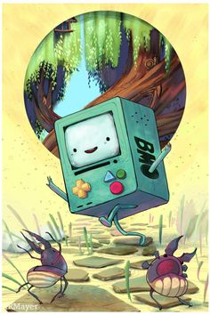 noisilyatomicpeace:Adventure Time BMO Fan Art print